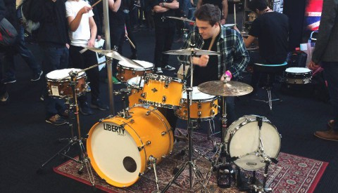 Toby Partridge – London Drum Show, Nov 2016 – Meeting up with the Bosphorus team and trying out new cymbals