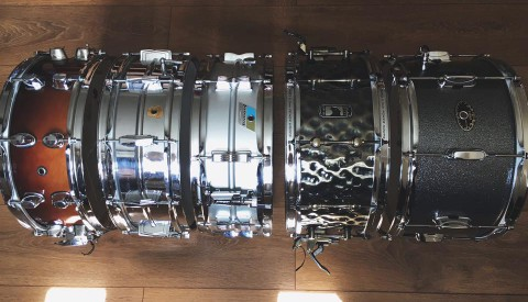 My snare collection! A snare for every occasion!