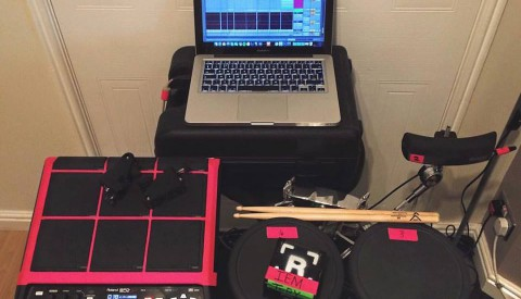 Session Drumming – Set up for singer/songwriter 'Scarlet' Gigs and Festivals