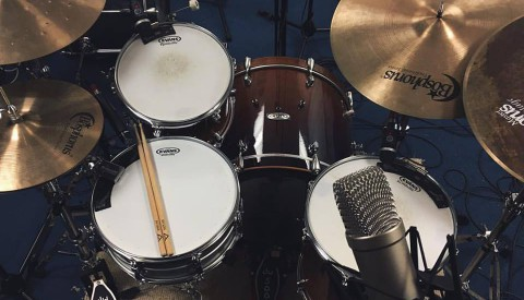 Recording drums for Amie Kitainik EP