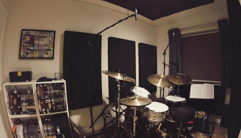 Home Drum Studio Room – Remote Session Work, Recording.